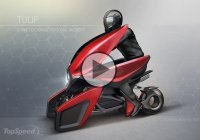 Extraordinary Three-Wheel Electric Scooter Concept – Tulip!