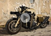 Be Prepared For The Apocalypse With The Gatling Gun Motorcycle – Show Stoppers Studio!