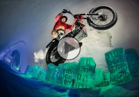 Dougie Lampkin Riding Through The Frozen Hotel!