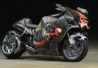 The Coolest Custom Hayabusa Ever – The Predator Bike!