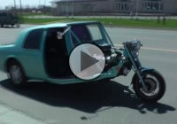 Mercury Cougar Turned Into Motorcycle, How About That??