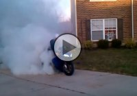 This Is The Most Epic Burnout Performed With A Motorcycle!