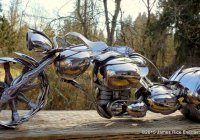 Custom Motorcycle Made Entirely Out Of Spoons – A Must See!!