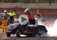 Check out this Hayabusa swapped Golf cart destroying its tires!