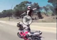 It's never a bad time to Dougie! Not even if you're on a motorcycle!