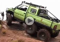 Dodge T-Rex 6×6 rolls directly over the camera man!