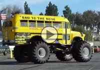 """Bad to the bone"", school bus / monster truck!"