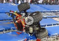 Captain's Curse Monster Truck flips into the stands!