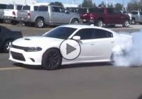 2015 Dodge Charger Hellcat epic tire shredding!