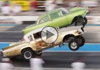 Two wild wheelstanding gassers at the 6th Annual Meltdown Drags!!