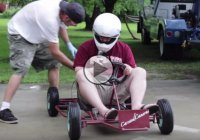 They bought a $50 broken Go Kart and turned it into a cool machine!