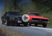 """General Lee"" Charger vs. ""Bandit"" Trans Am in a wild car chase!"