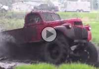 This 1946 Chevy Mega Truck is a proof that mud is a perfect playground!
