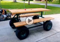 "Gas powered picnic table – consume ""fast food"" literally!"