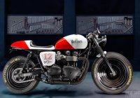 Ayrton Senna Tribute Triumph Bonneville Bike by Tarso Marques!