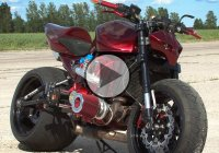 Custom Kawasaki Z1000 Turbo Streetfighter – The Red Tornado!