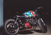 Colorful Custom Honda GL1000 By French Builders Manu and Yann!