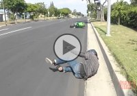 Drifting Gone Wrong With A Kawasaki Ninja ZX10R!