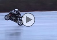 "Guinness World Record For The ""Fastest Motorcycle Wheelie On Ice""!"