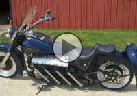 Lincoln Zephyr Flathead V12 Motorcycle – Amazing Sound!
