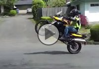 Father Pops Wheelies In Front Of His Sons – Then The Unexpected Happened!