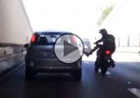 He Kicked A Moving Car, Then Karma Hit Him Back!