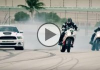 Epic Motorcycle vs. Car Drift Battle With Ernie Vigil & Nick Brocha In 4K!
