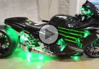 "2013 Custom Kawasaki ZX14-R- Built by Garwood Custom Cycles – ""War Admiral""!"