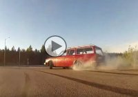 Volvo 245 Drifts with Supra Engine under the hood!