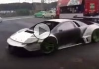 Real Madness: Lamborghini Murcielago D1 Drift Car is Doing Some Donuts!