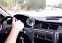A 700 HP Honda Civic destroys itself! The hood goes up as it accelerates!