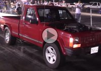 Turbo LSX 1989 Jeep Comanche running 10's at the drag strip!!