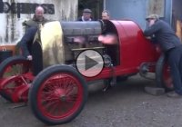 Unbelievable! 1911 Fiat LSR car started after 100 years of resting!