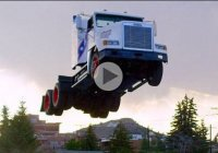 Gregg Godfrey's 166ft semi-truck jump broke the world record at Evel Knievel Days!