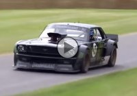 Ken Block burning the tires of Hoonicorn Mustang at Festival of Speed 2015!