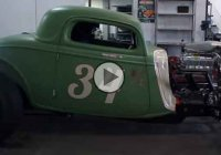 """Drag Rod"", a 1934 Ford Rat Rod doing an incredible burnout!"