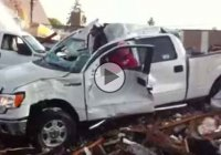 This Ford F150 pickup truck was crushed and flattened, but still drivable!