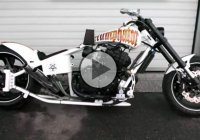 GSXR Chopper With Dual Exhaust System & Amazing Sound!