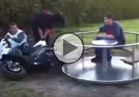 Incredibly Stupid Ferris Wheel Motorcycle FAIL!