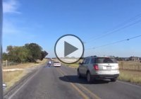 Crazy Old Driver Swerves And Hits Two Riders!