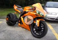 Custom 2004 Yamaha R1 With 360 Rear Tire!