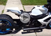 Extremely Well Done Custom 2007 GSX-R 1000 With Wide Tire And Sound System!