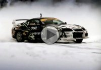 Kenneth Moen goes Nuts with his Battle-Scarred 840hp Toyota Supra… Insane Hill-climb Drifting on Ice!