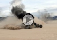 Diesel rat rods going wild in the dirt!