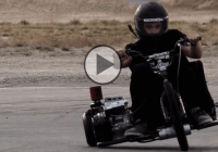 Ultimate fun: This motorized trike is drifting like crazy!