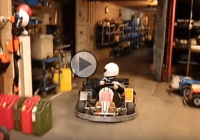 A parking lesson by a 9 year old go-kart driver!