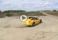 Shooting clays from a drifting Ferrari like a boss!