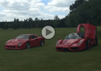 Epic sliding: Were the Ferrari F40 and Enzo made for the grass?