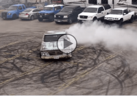 The guys from Gas Monkey garage are doing epic donuts in the 44 Build's Dodge like it's a National Donut Day!