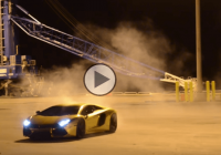 Behind the scenes: Multiple Drifts By A Gold Aventador!